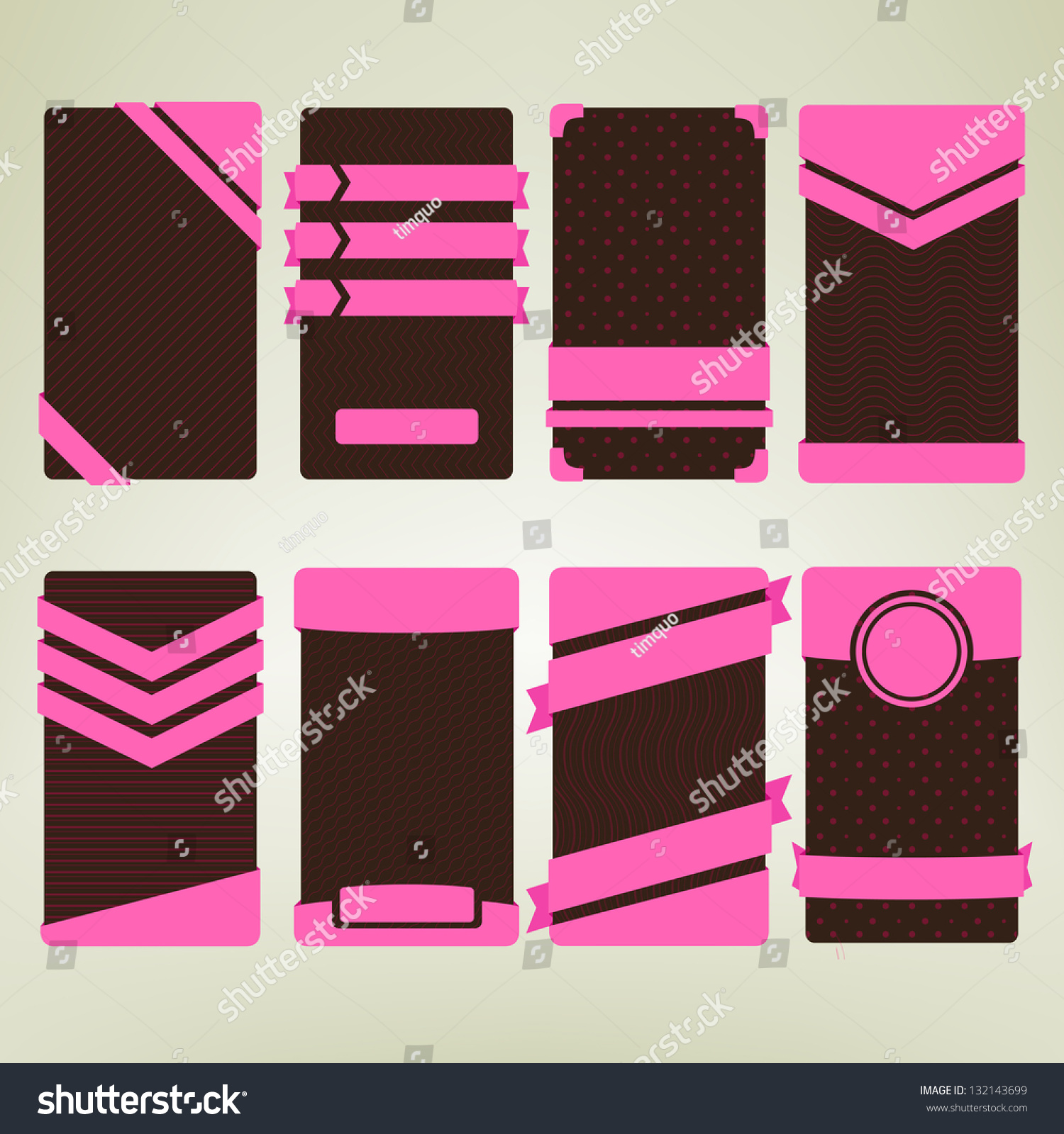 pink and dark brown colored ad banner card templates vertical save to a lightbox