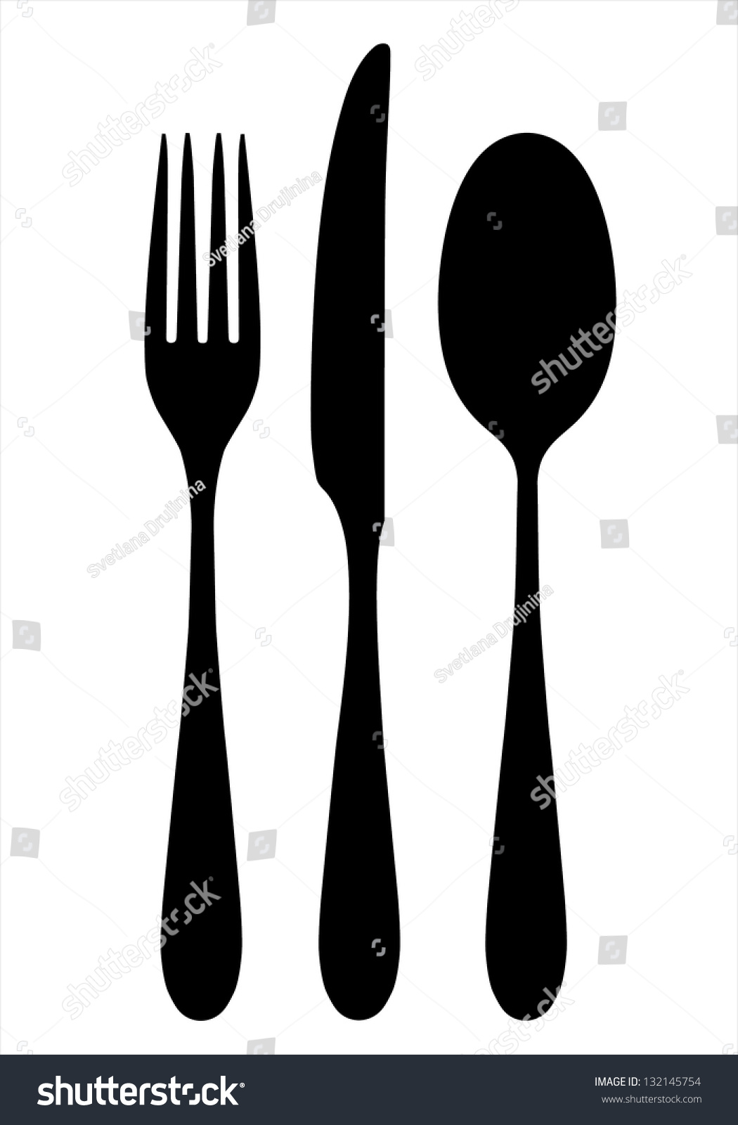 how to use fork and spoon