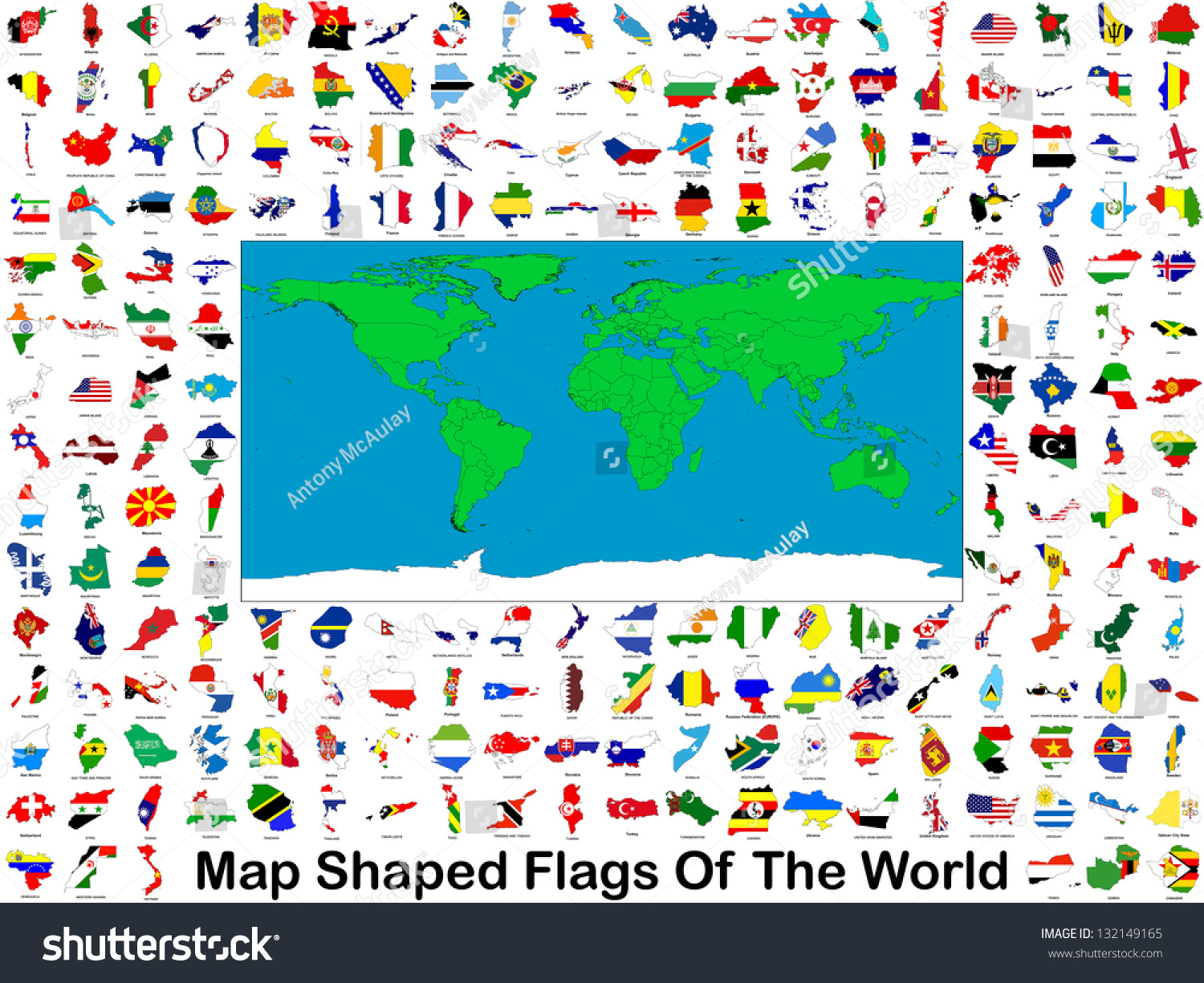all worlds flags shape their respective stock illustration 132149165