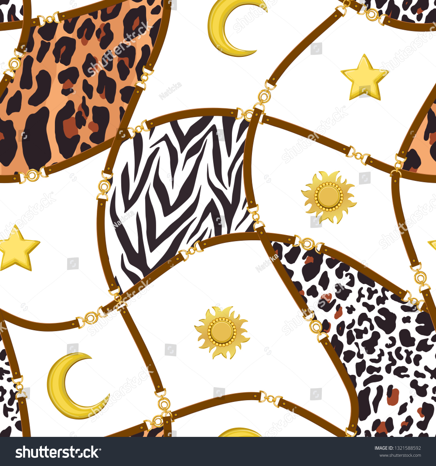 ad9cd474f7 Chain Seamless Pattern Belt Zebra Leopard Stock Vector (Royalty Free ...