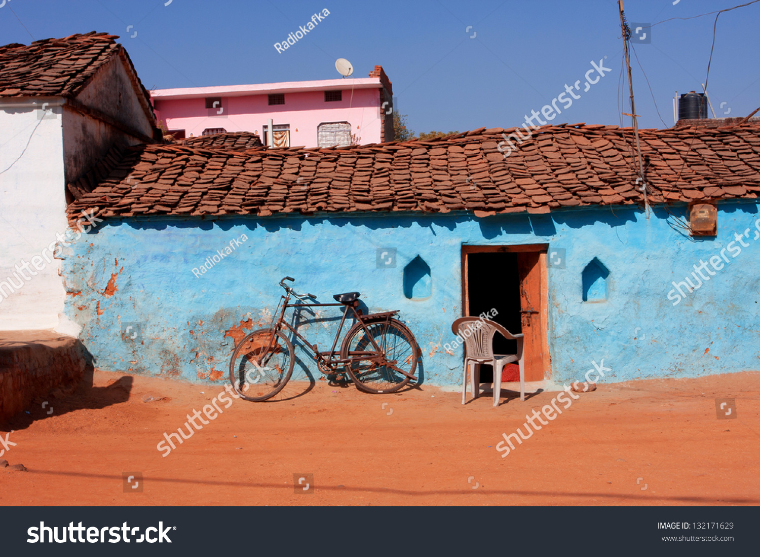 Typical indian village house the image for Beauty full house