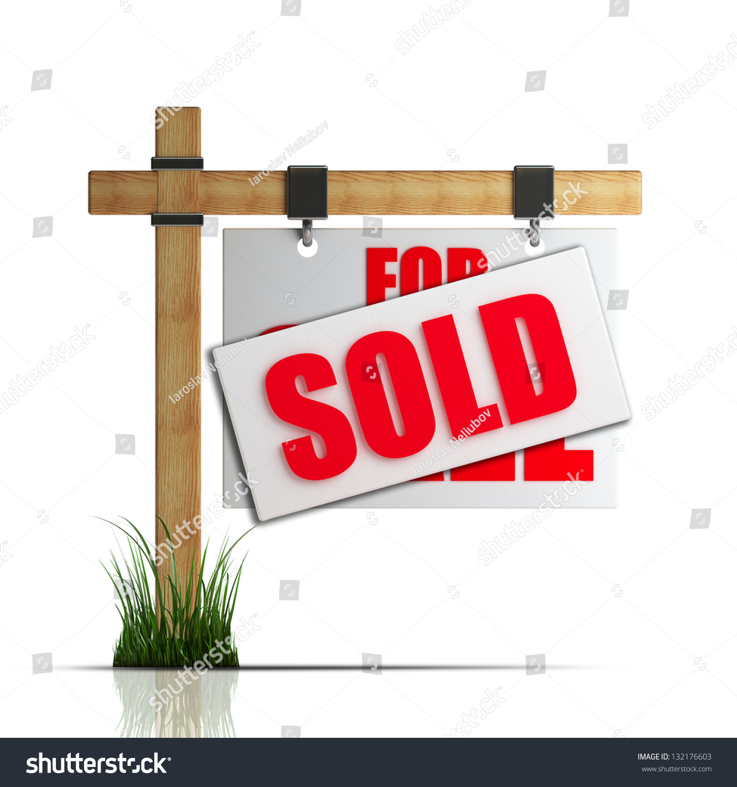 For Sale Sold Sign: Sale Sold Sign Isolated On White Stock Illustration