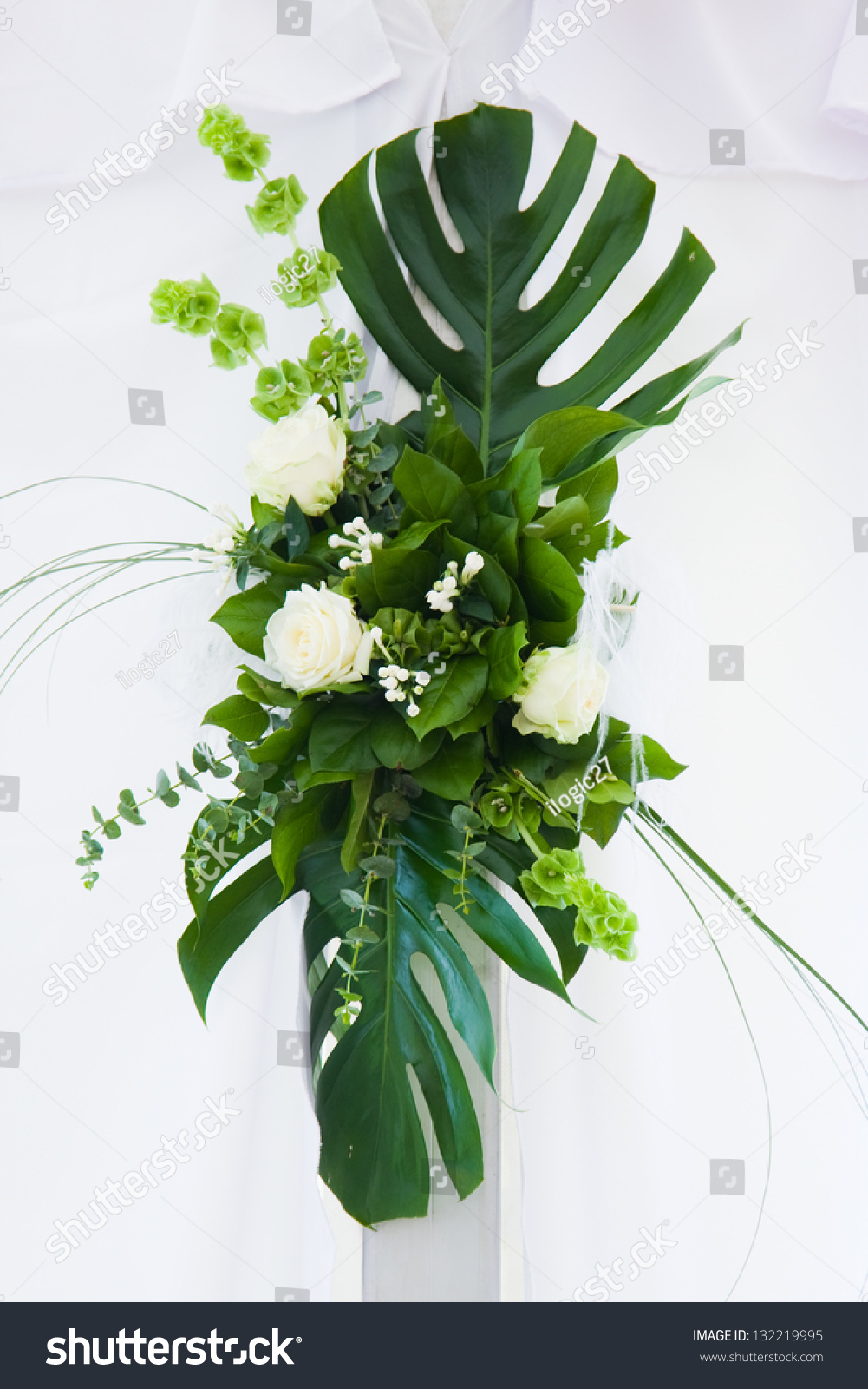 Different Types Flower Arrangements Isolated On Stock Photo Edit