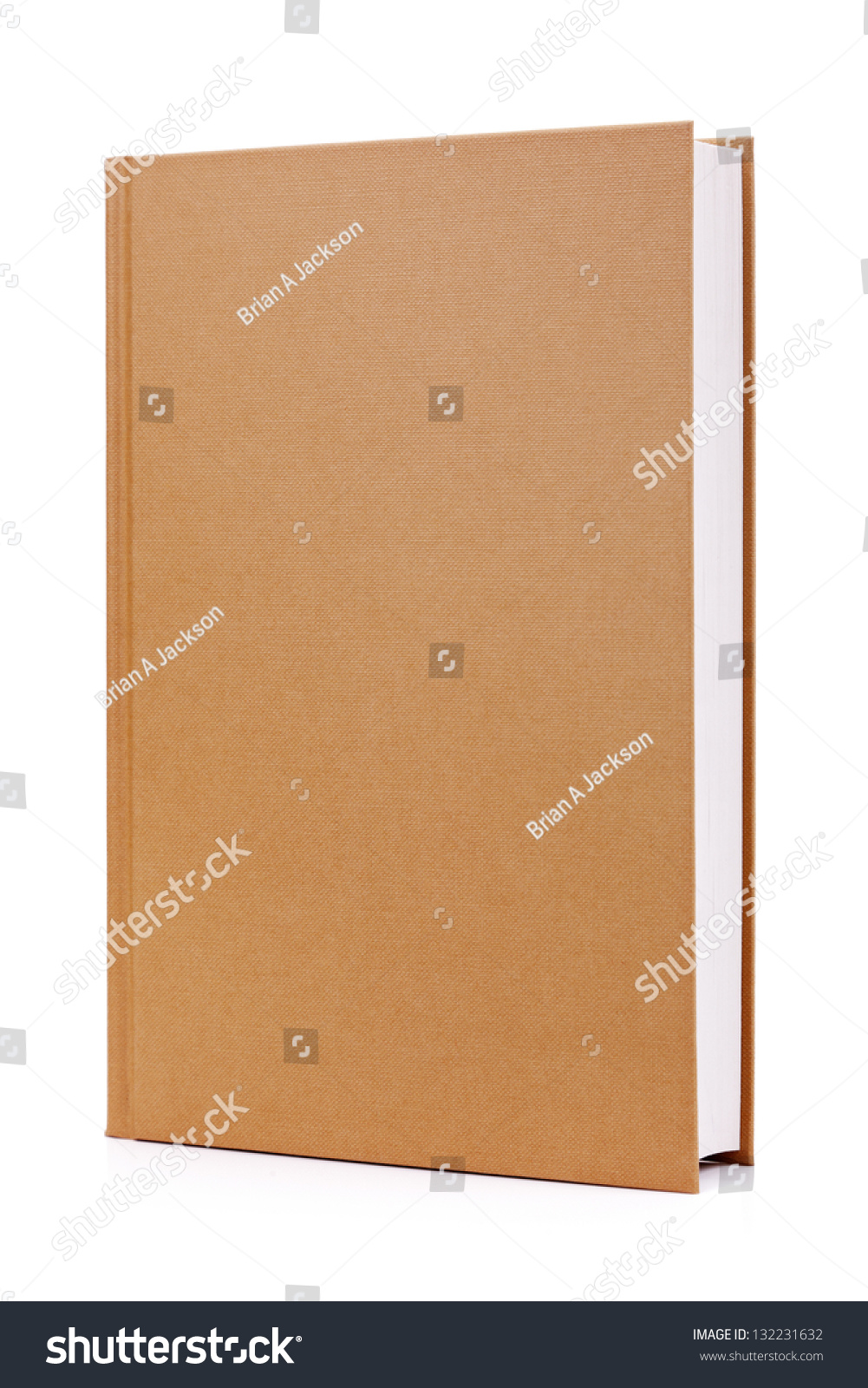 Hardcover Book Graphics : Blank brown hardback book cover ready stock photo