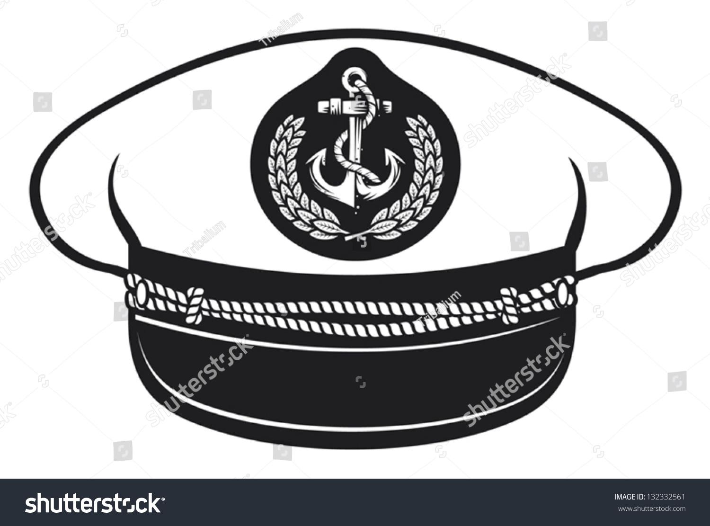 Captain Hat Stock Vector Illustration 132332561 : Shutterstock Captain Hat Vector
