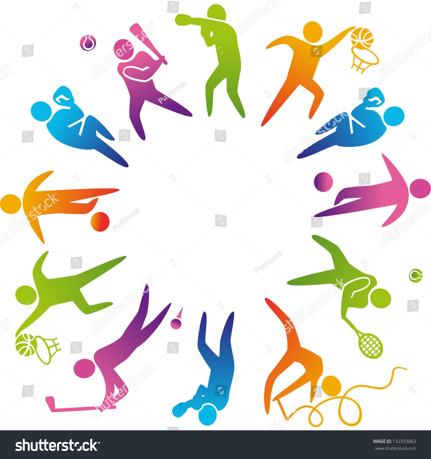 World Sports Vector Illustration Sports Icons Stock Vector