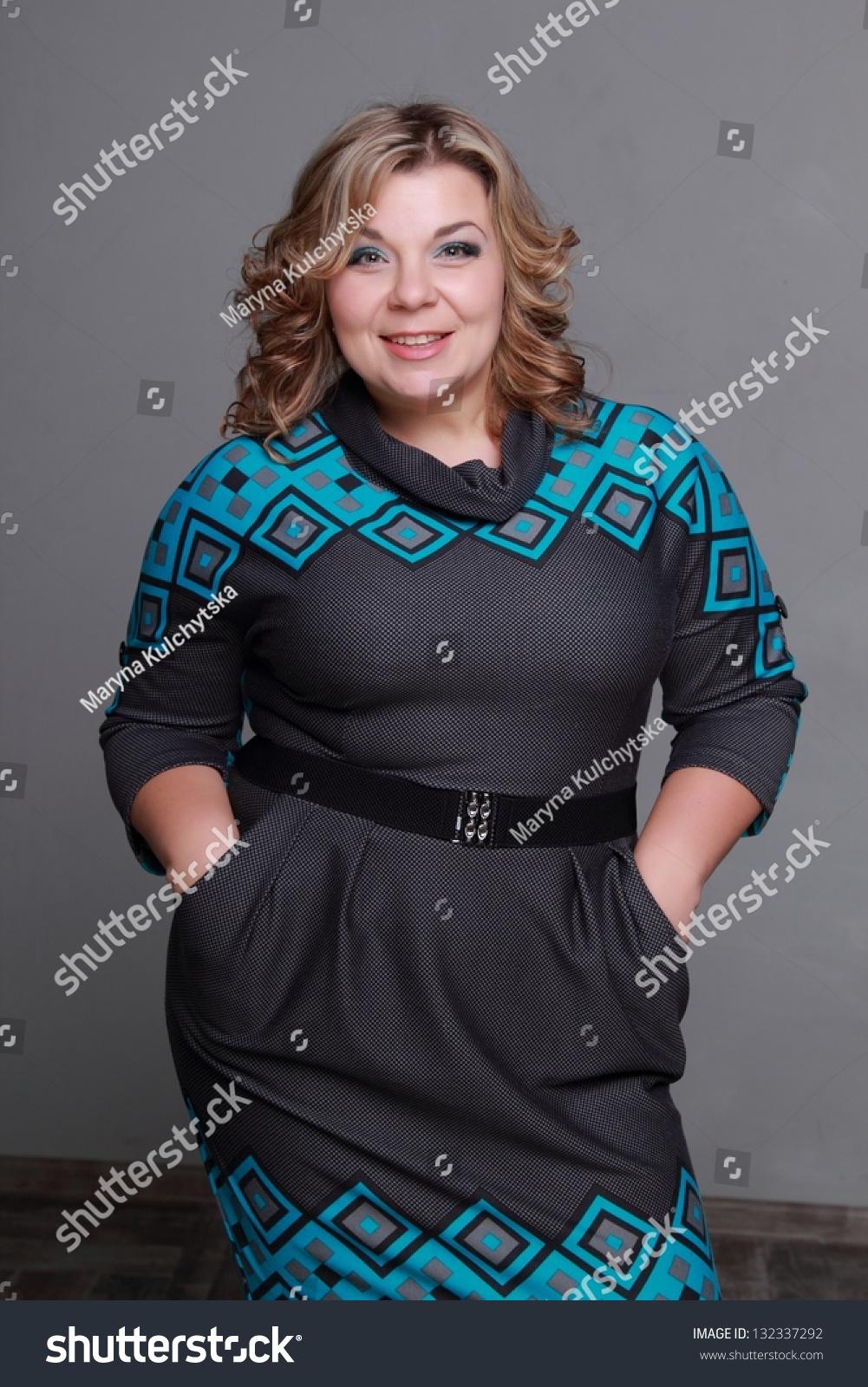Fat Woman In A Beautiful Dress Stock Photo 132337292 : Shutterstock