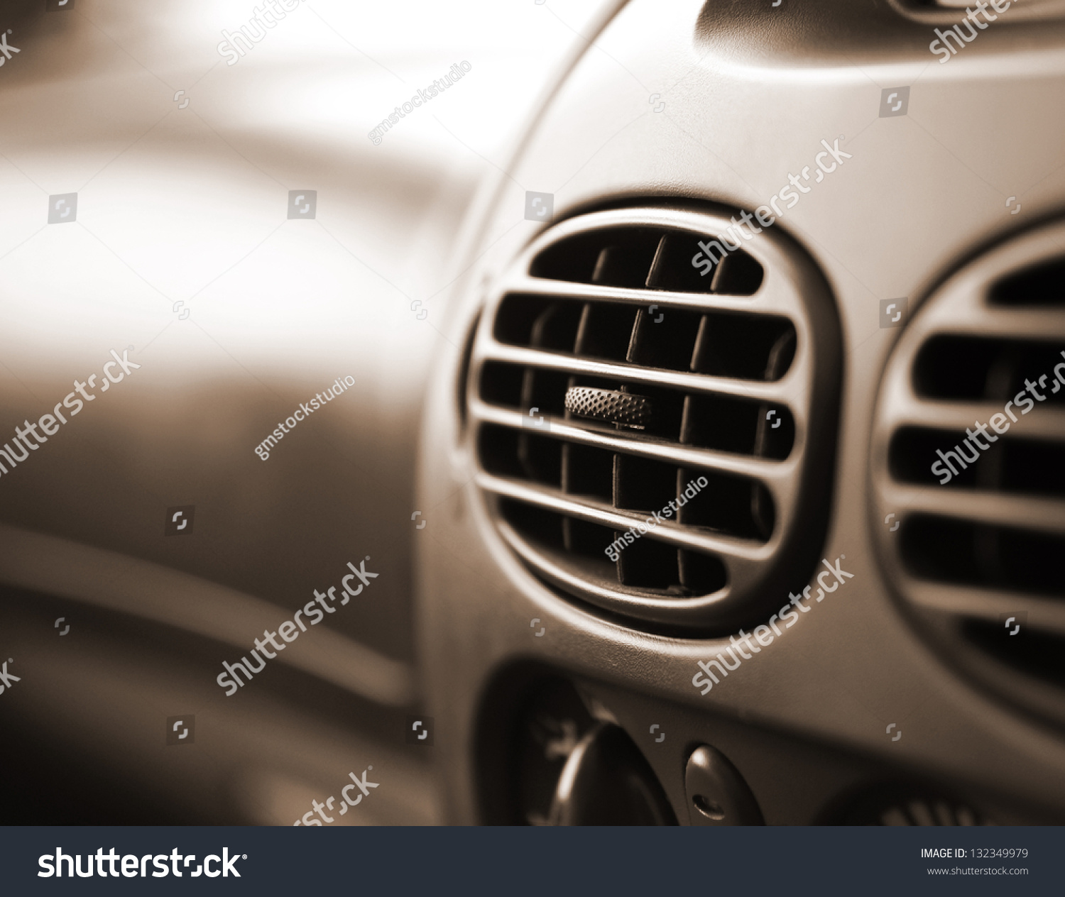 car interior air conditioner very shallow dof stock photo 132349979 shutterstock. Black Bedroom Furniture Sets. Home Design Ideas
