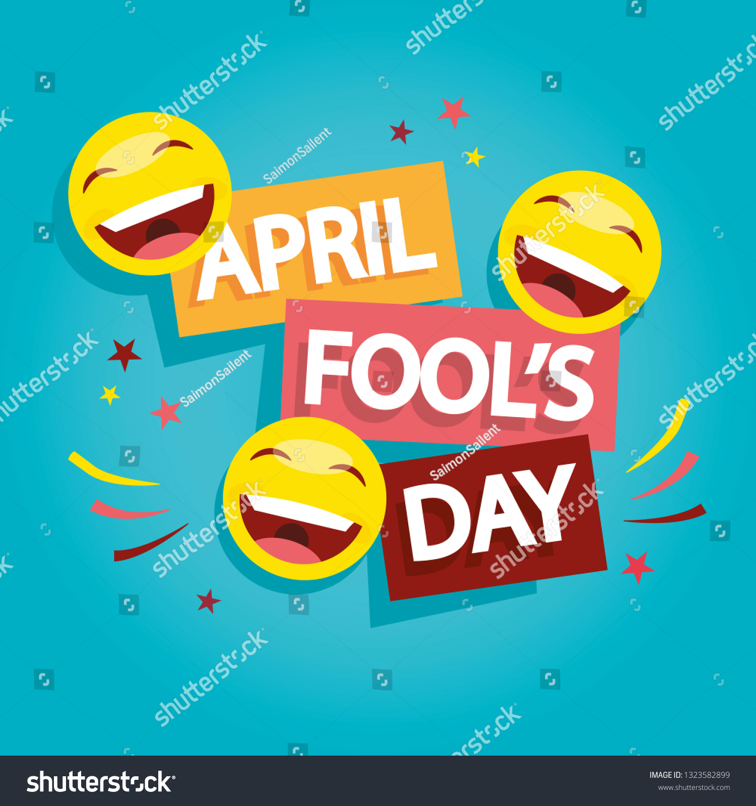 Modern vector illustration of Fool's Day. 1 april Day illustration.