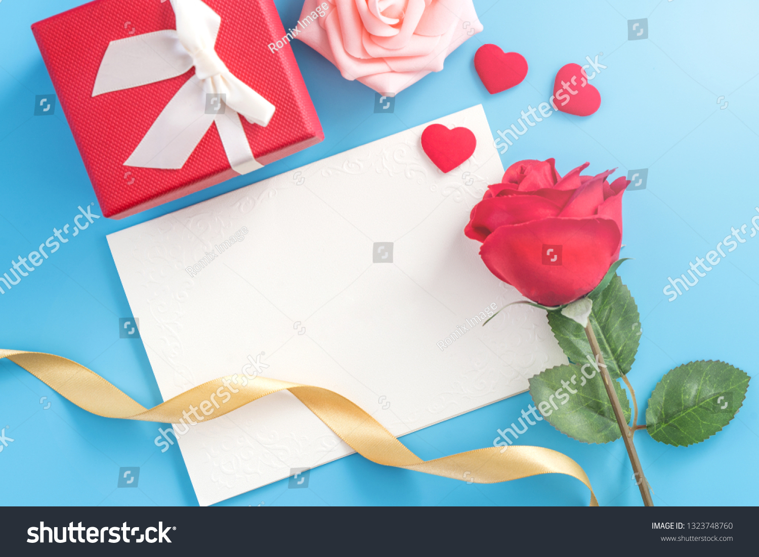 Beautiful Greeting Invitation Card Concept Mother Stock