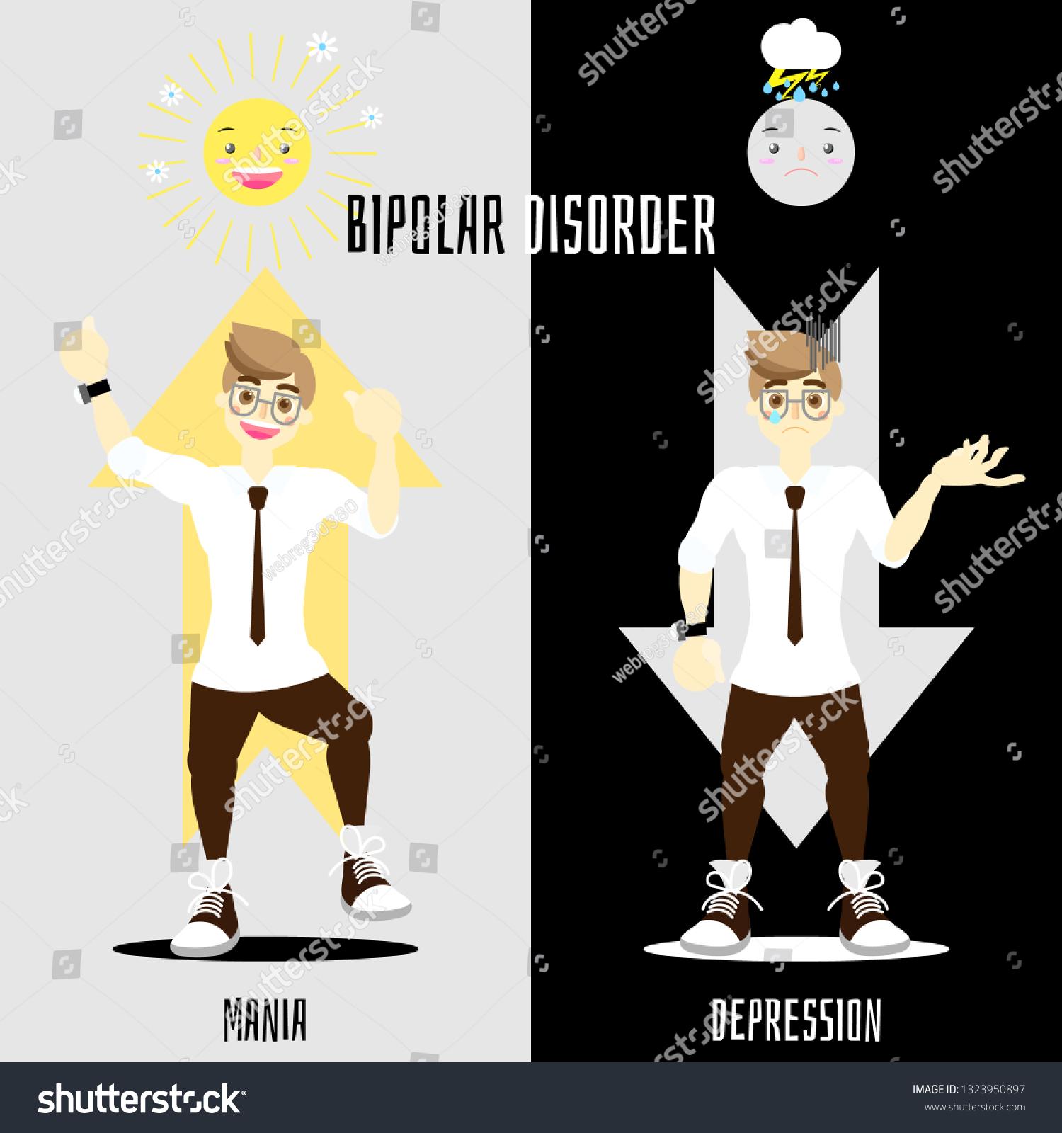 World Bipolar Disorder Day Man Having Stock Vector Royalty Free 1323950897