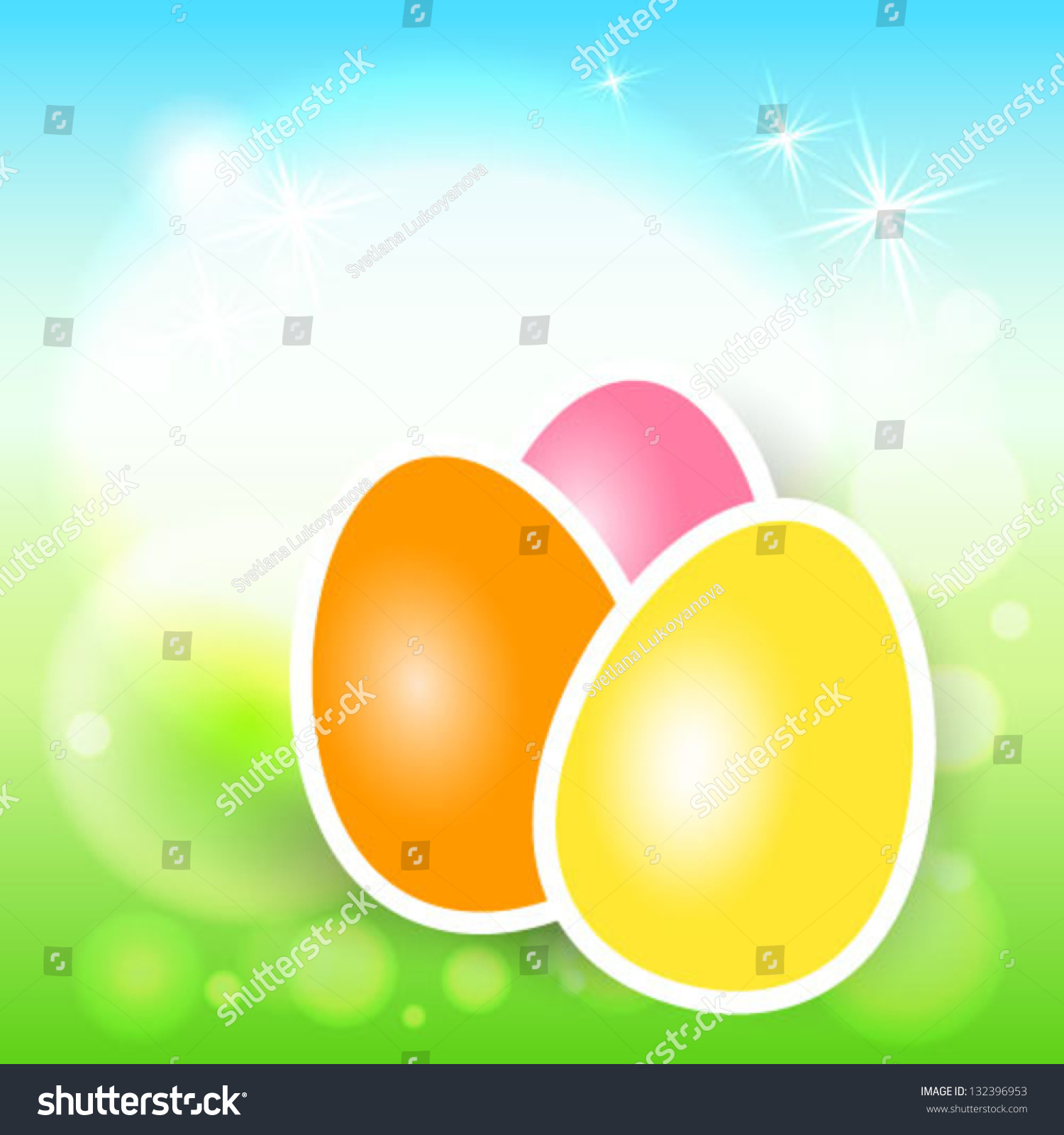 easter eggs from easter cardampbanner vector background