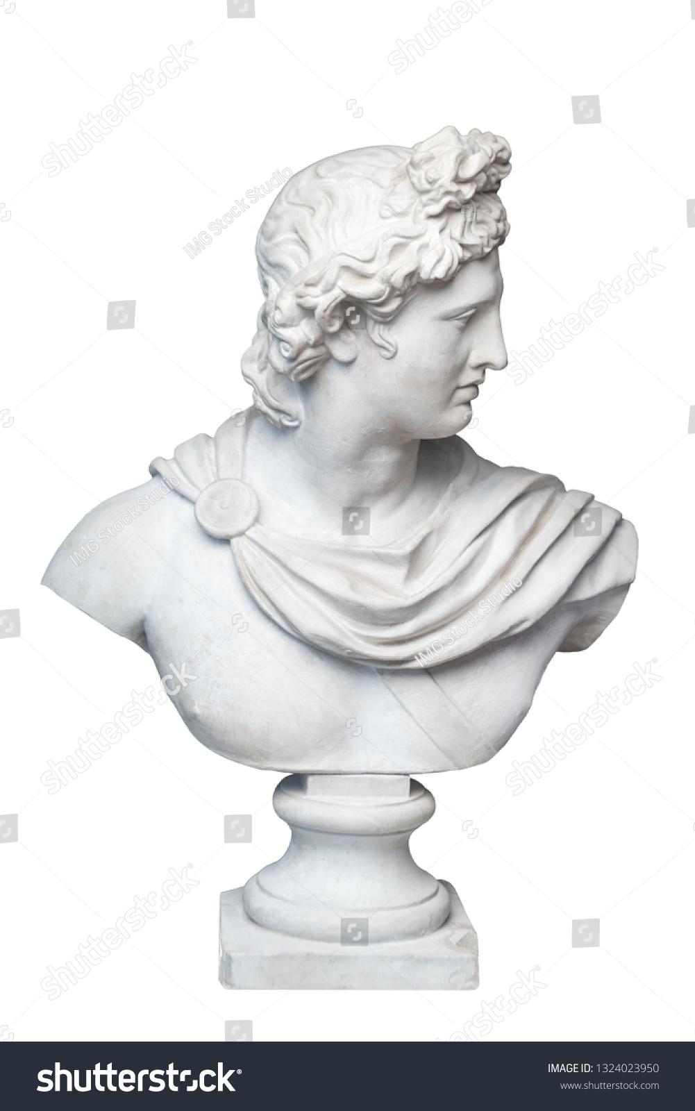 God Apollo Bust Sculpture Ancient Greek Stock Photo (Edit