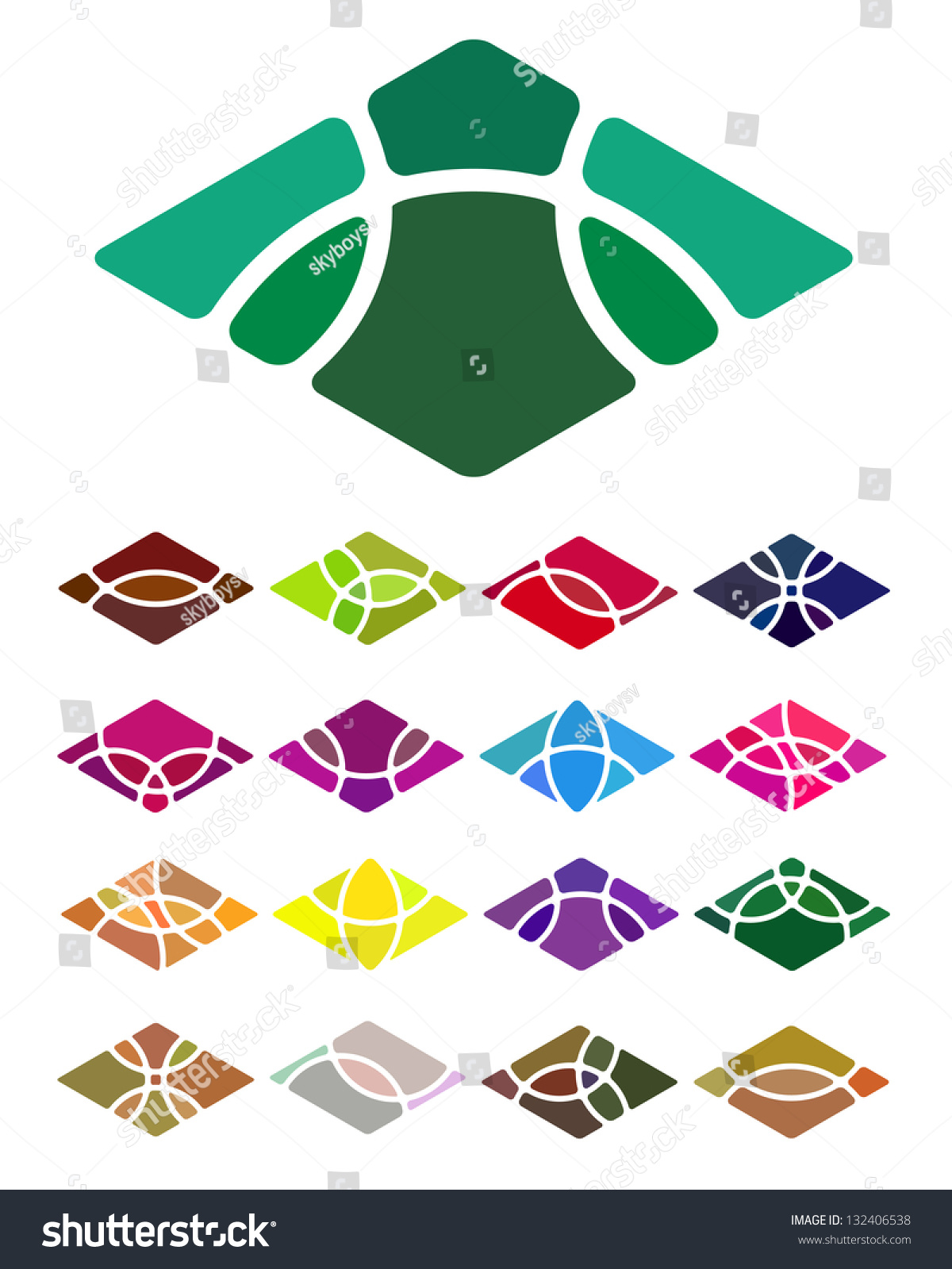 design abstract diamondshaped logo element crushing