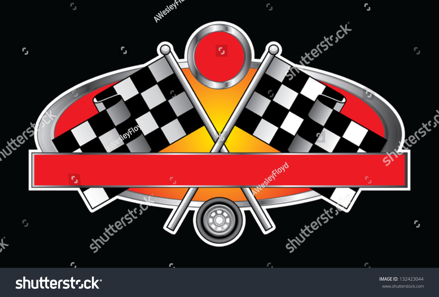 Desain t shirt racing - Racing Design With Banner Is An Illustration Of A Racing Design With Race Flags Wheel