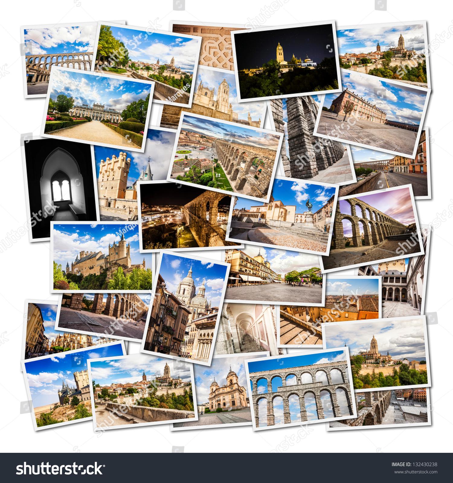 Segovia Collage Castilla Y Leon Spain Foto de stock (editar ahora ...