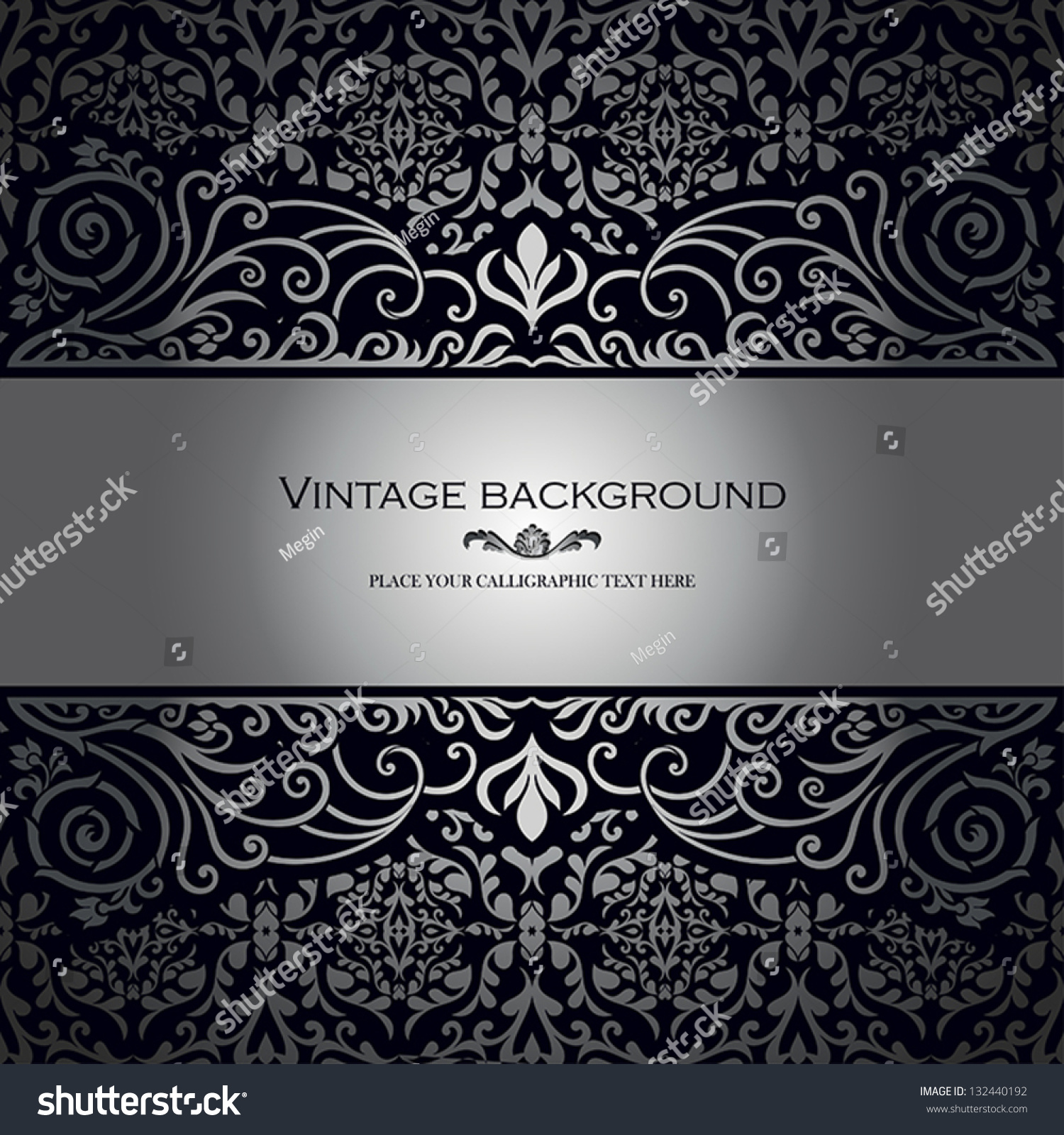 Vintage background ornate baroque pattern vector illustration stock -  Vectors Illustrations Footage Music Vintage Background Antique Victorian Silver Ornament Baroque Frame Beautiful Old Paper