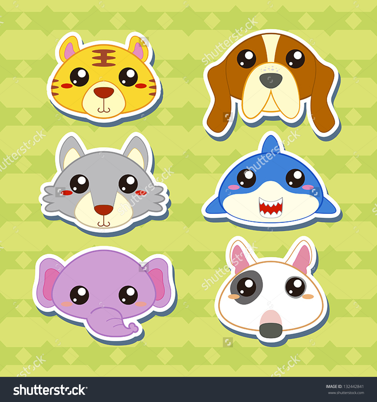 cartoon animal stickers in - photo #39
