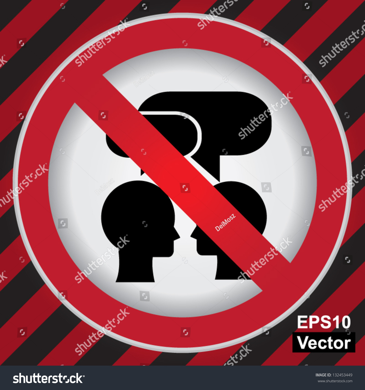 Keep Quiet Pictures Stock Vector Vector Circle Prohibited Sign For Keep
