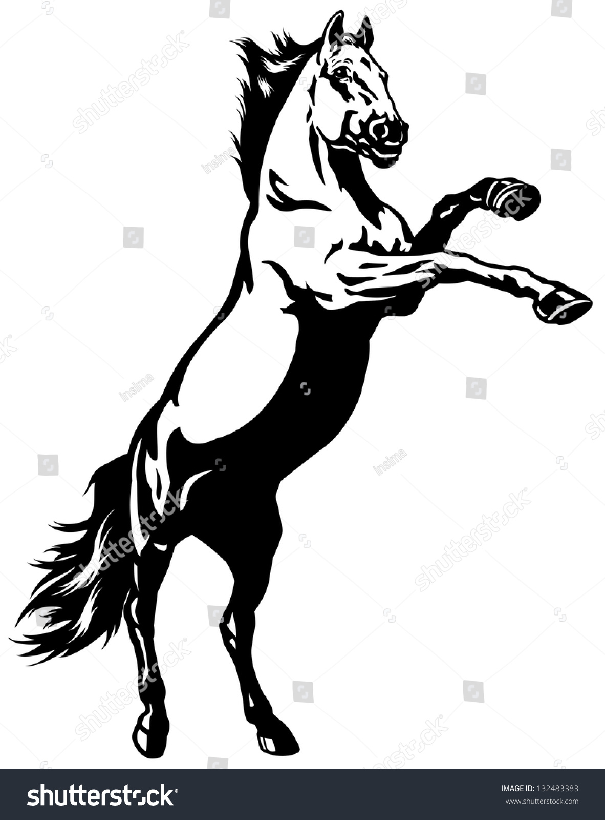 gallery for gt rearing horse logo