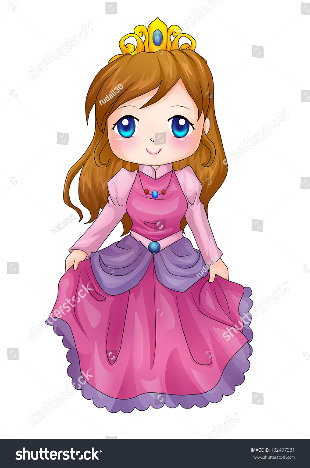 cute cartoon illustration queen stock illustration