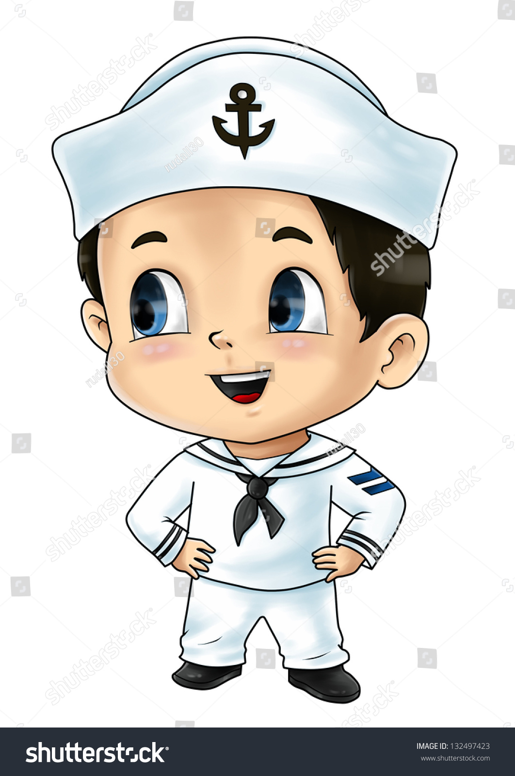 Stock Photo Cute Cartoon Illustration Of A Sailor