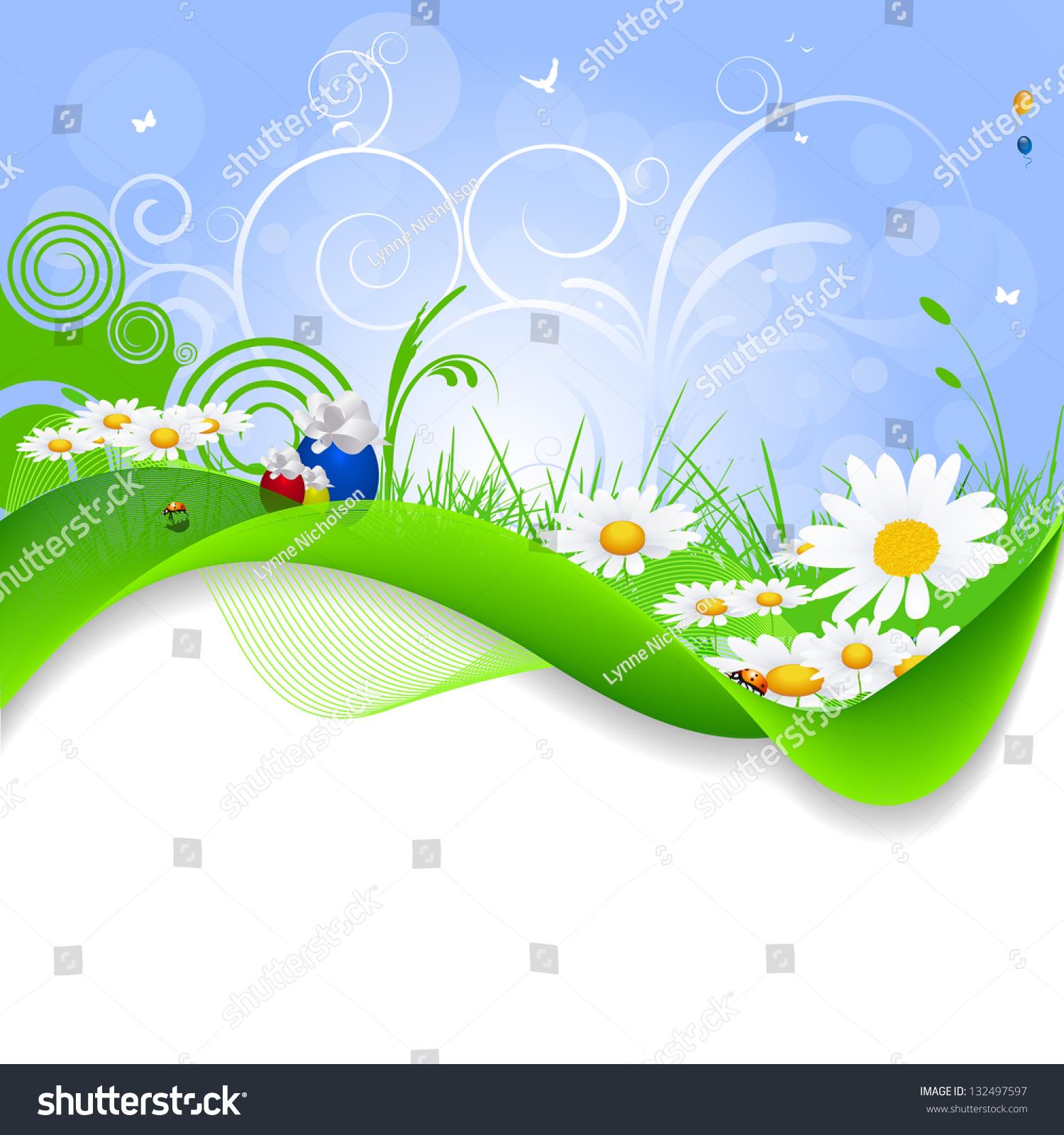 nature design flowers swirls stock vector royalty free 132497597