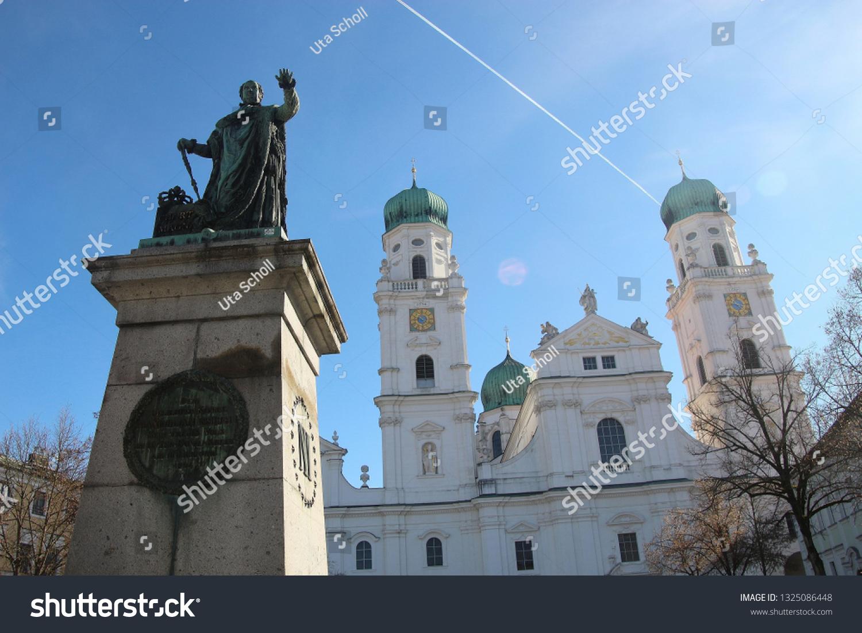 Passau Germany February 23 2019 Monument Stock Photo (Edit