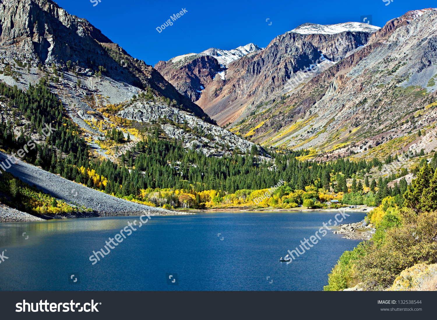 Lundy lake lundy canyon fall colors stock photo 132538544 for Canyon lake fishing ca
