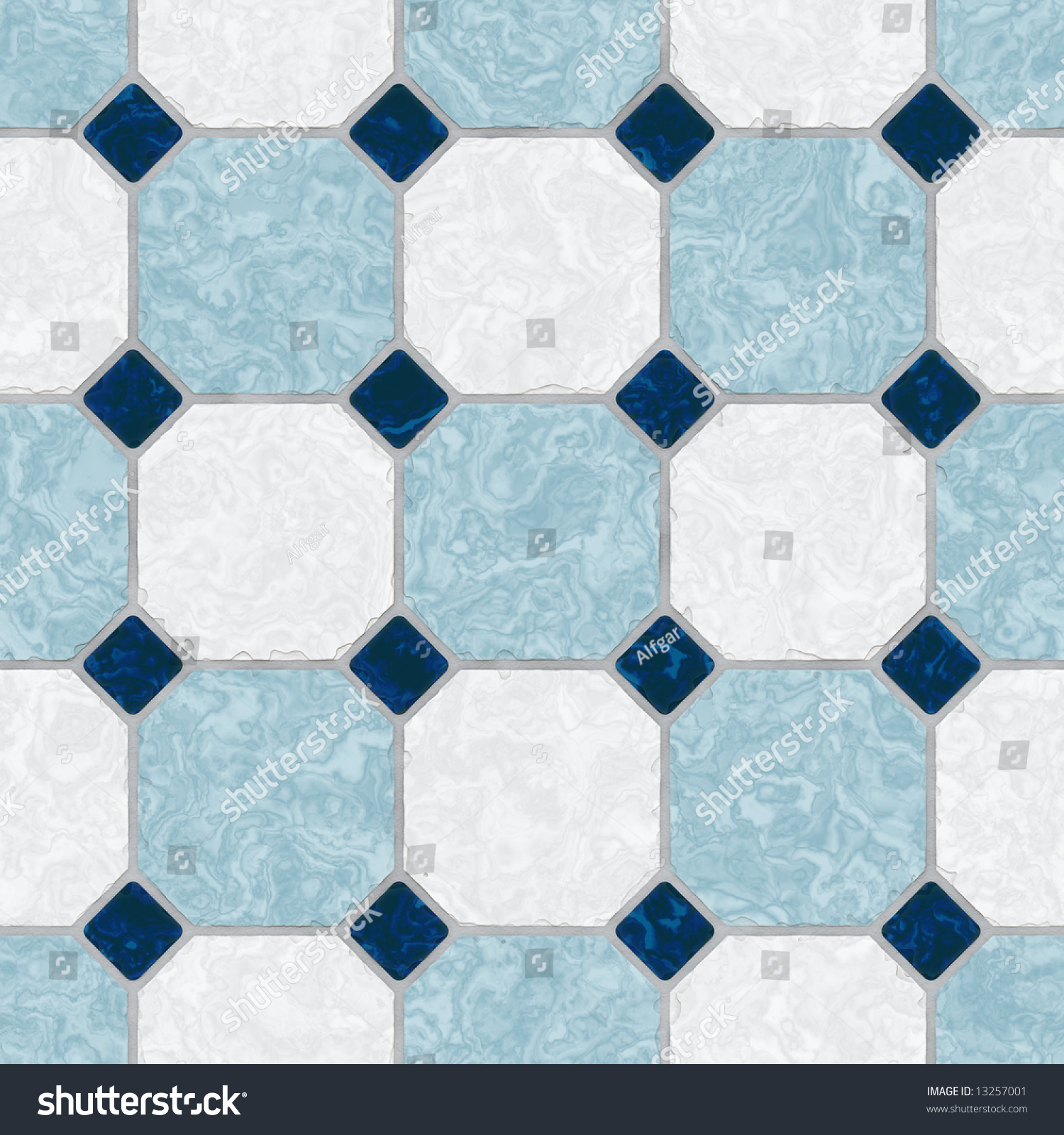 Seamless Kitchen Flooring Blue White Ceramic Tile Kitchen Floor Stock Photo 13257001
