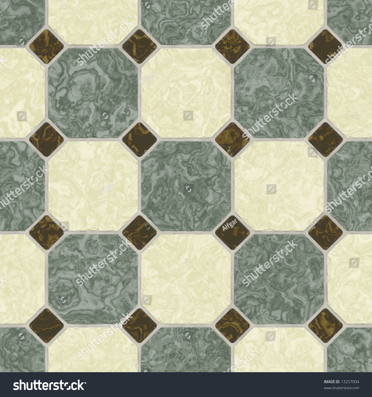 Green Earth Tone Ceramic Tile Bathroom Stock Illustration 13257004