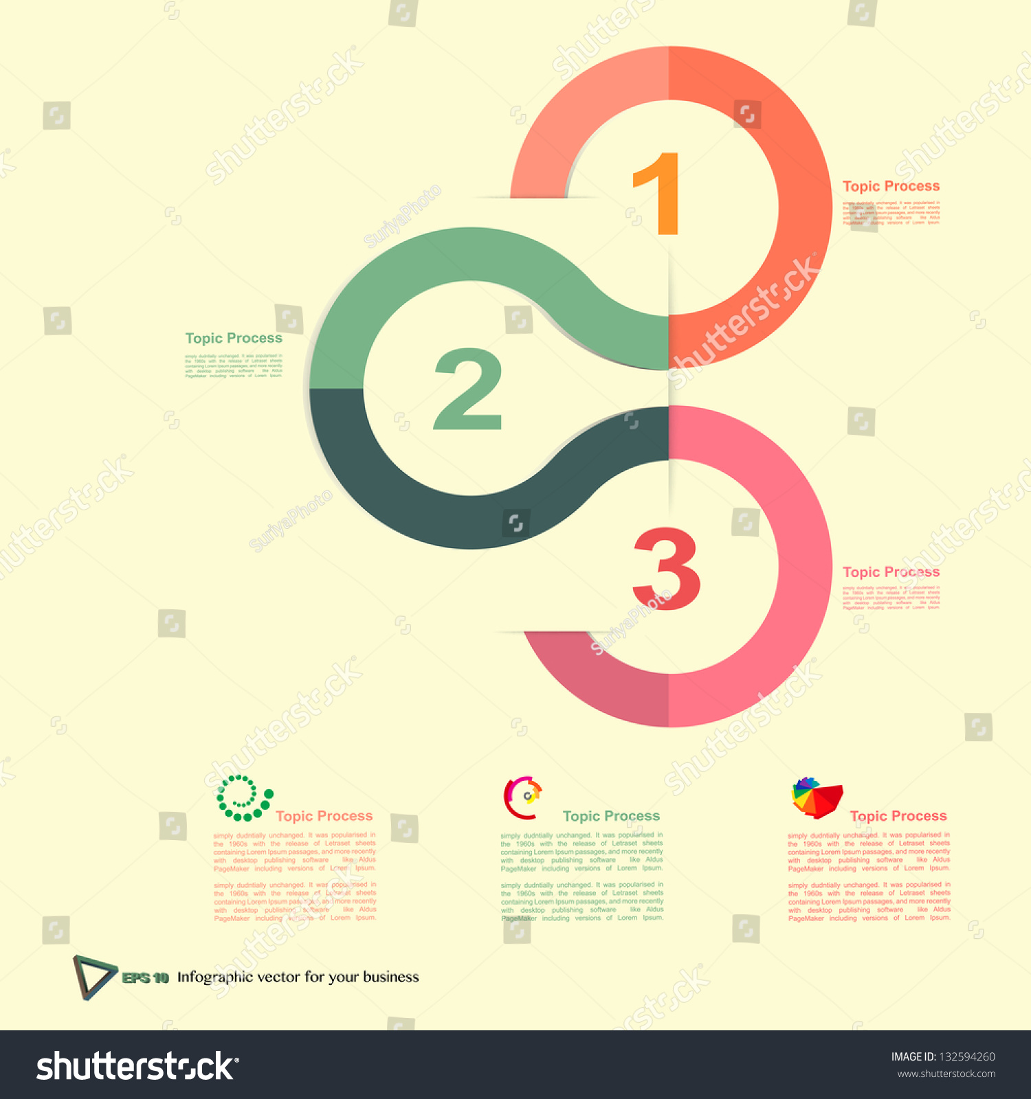 Vector Modern Design Template Infographics Numbered Banners Cutout Lines Graphic Or Website Layout