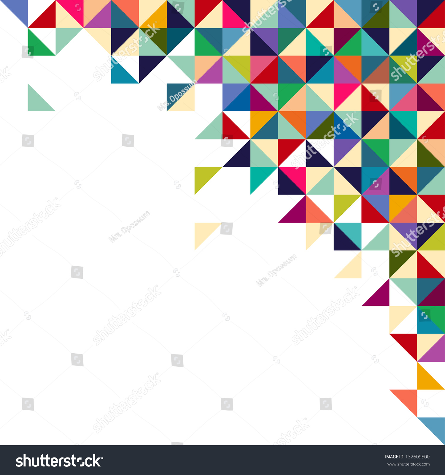 Abstract Geometric Background Triangle Square Colorful