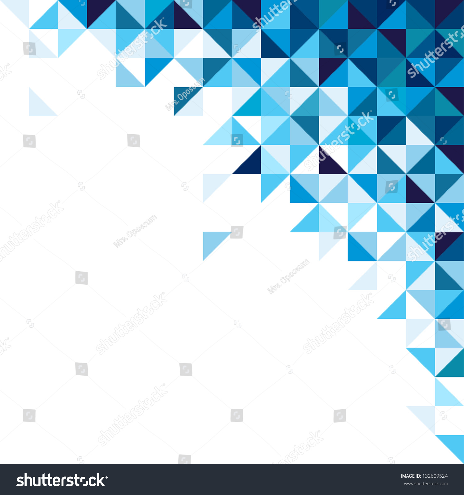 Abstract Geometric Background Triangle Square Blue Stock