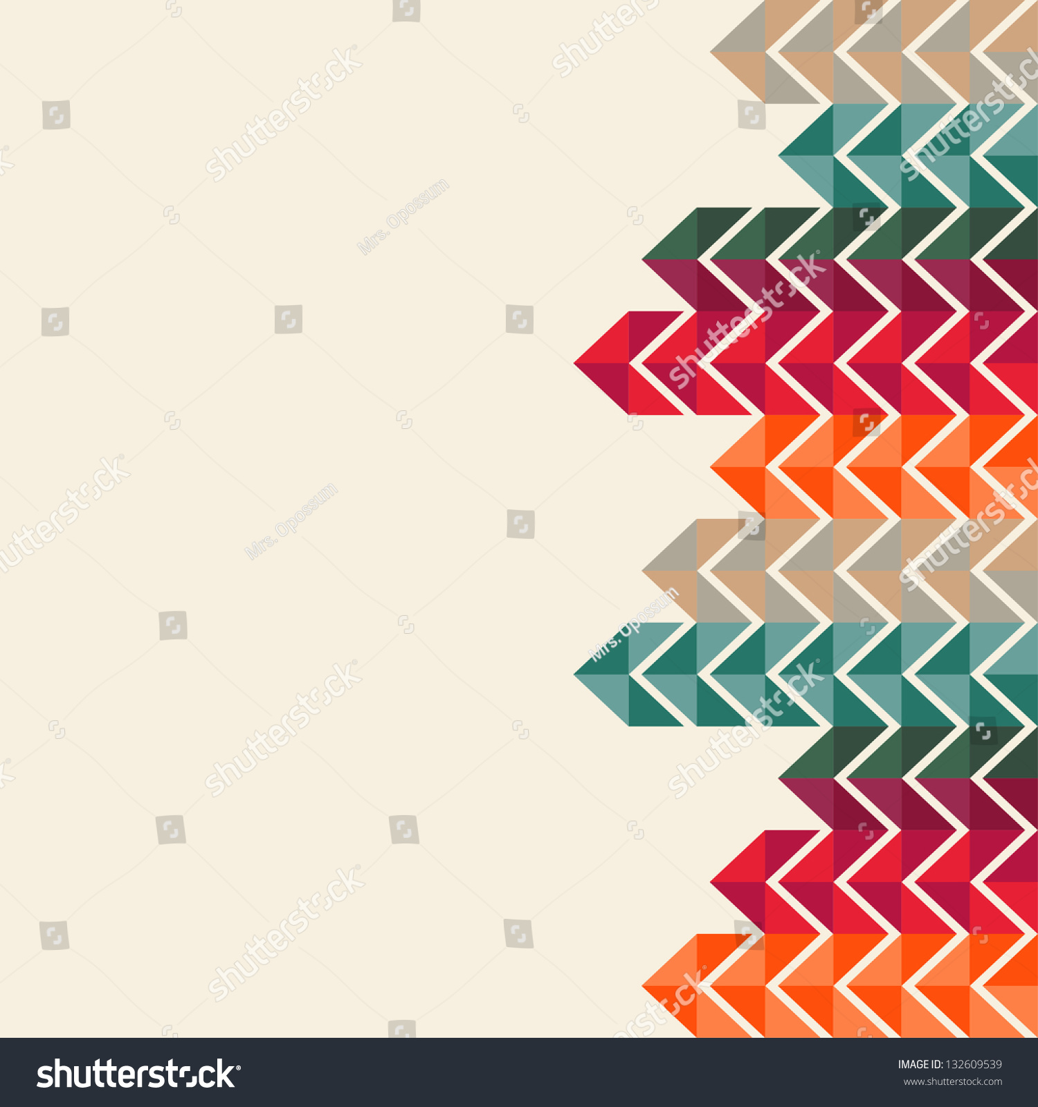 Royalty Free Abstract Geometric Background 132609539