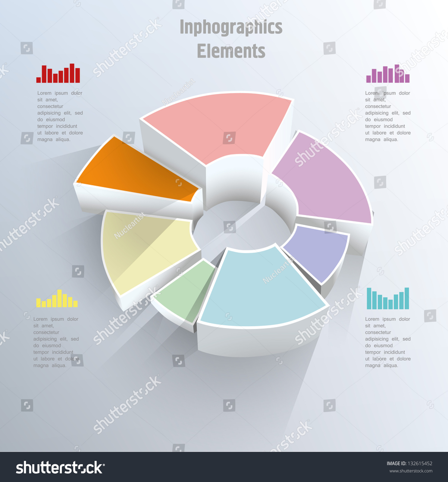 3d pie chart graph vector illustration stock vector 132615452 3d pie chart graph vector illustration geenschuldenfo Image collections