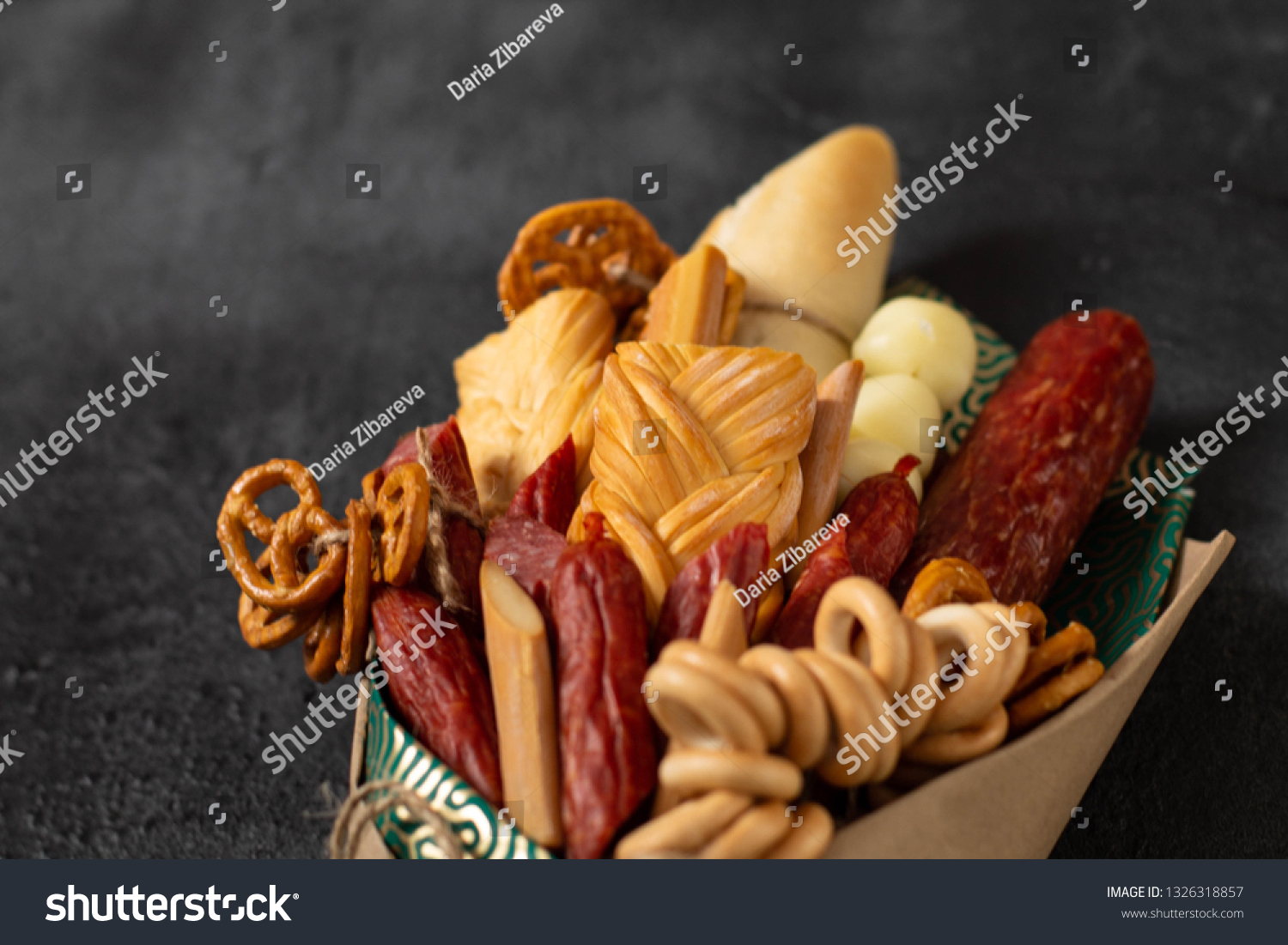 Original Edible Gift Form Bouquet Consisting Stock Photo Edit Now 1326318857