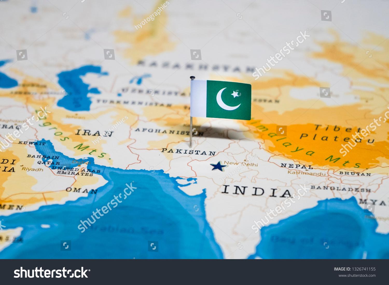 Flag Pakistan World Map Stock Photo Edit Now 1326741155 Shutterstock