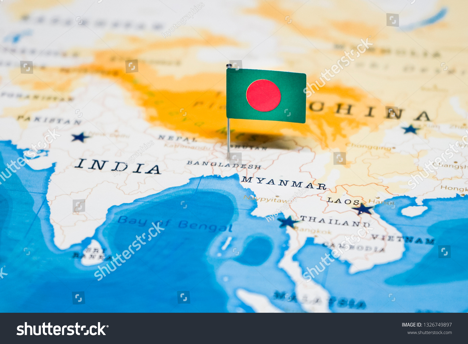 Picture of: Flag Bangladesh World Map Stock Photo Edit Now 1326749897