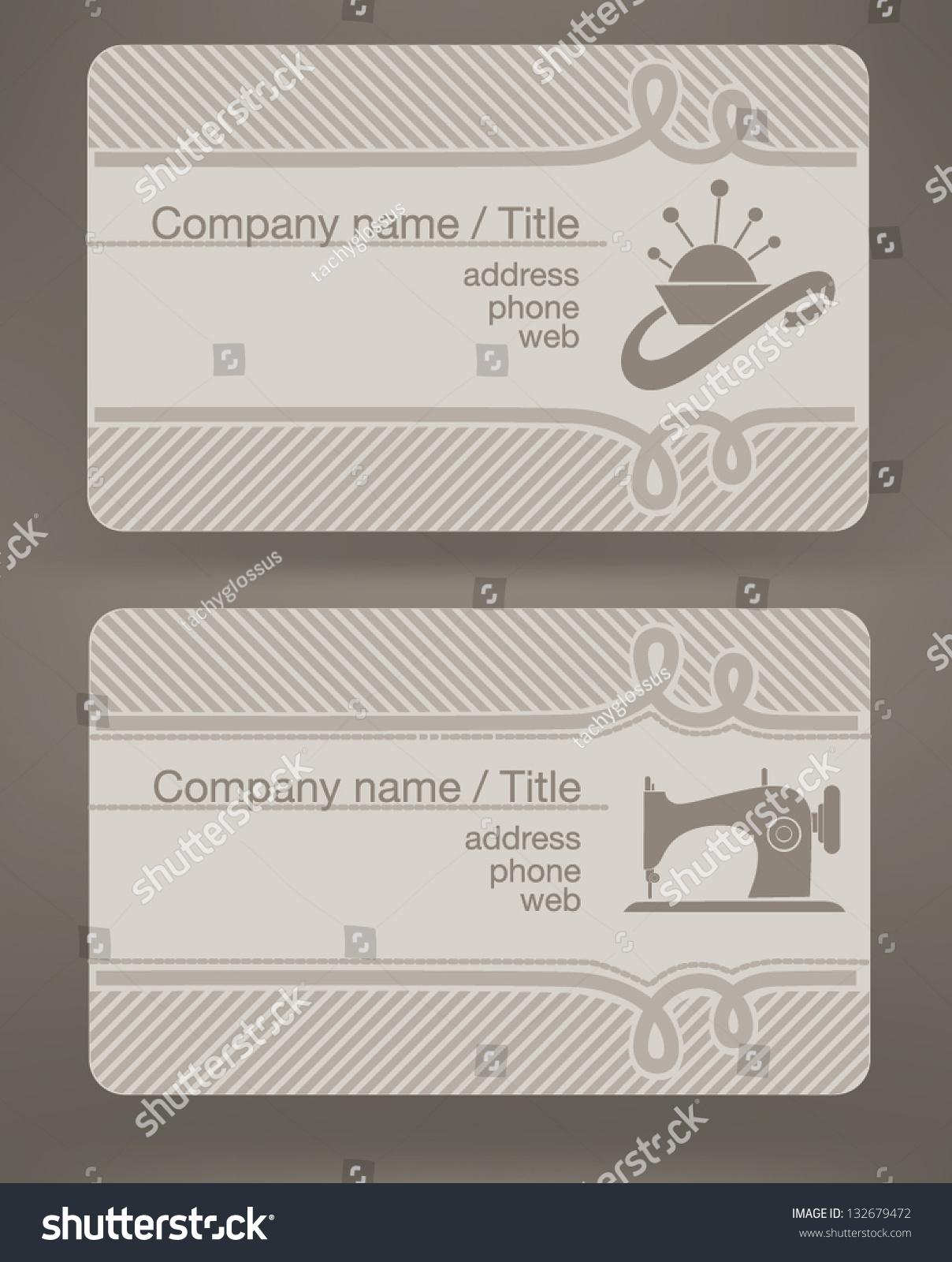 Business cards fashion designer tailor stock vector 132679472 business cards for fashion designer and tailor magicingreecefo Images