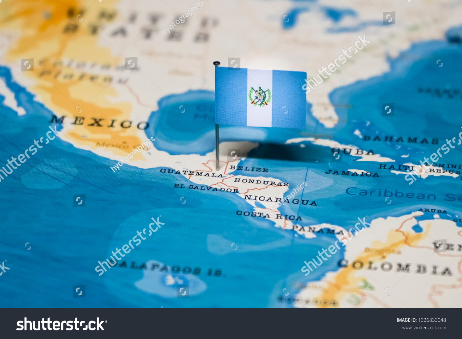 Picture of: Flag Guatemala World Map Stock Photo Edit Now 1326833048
