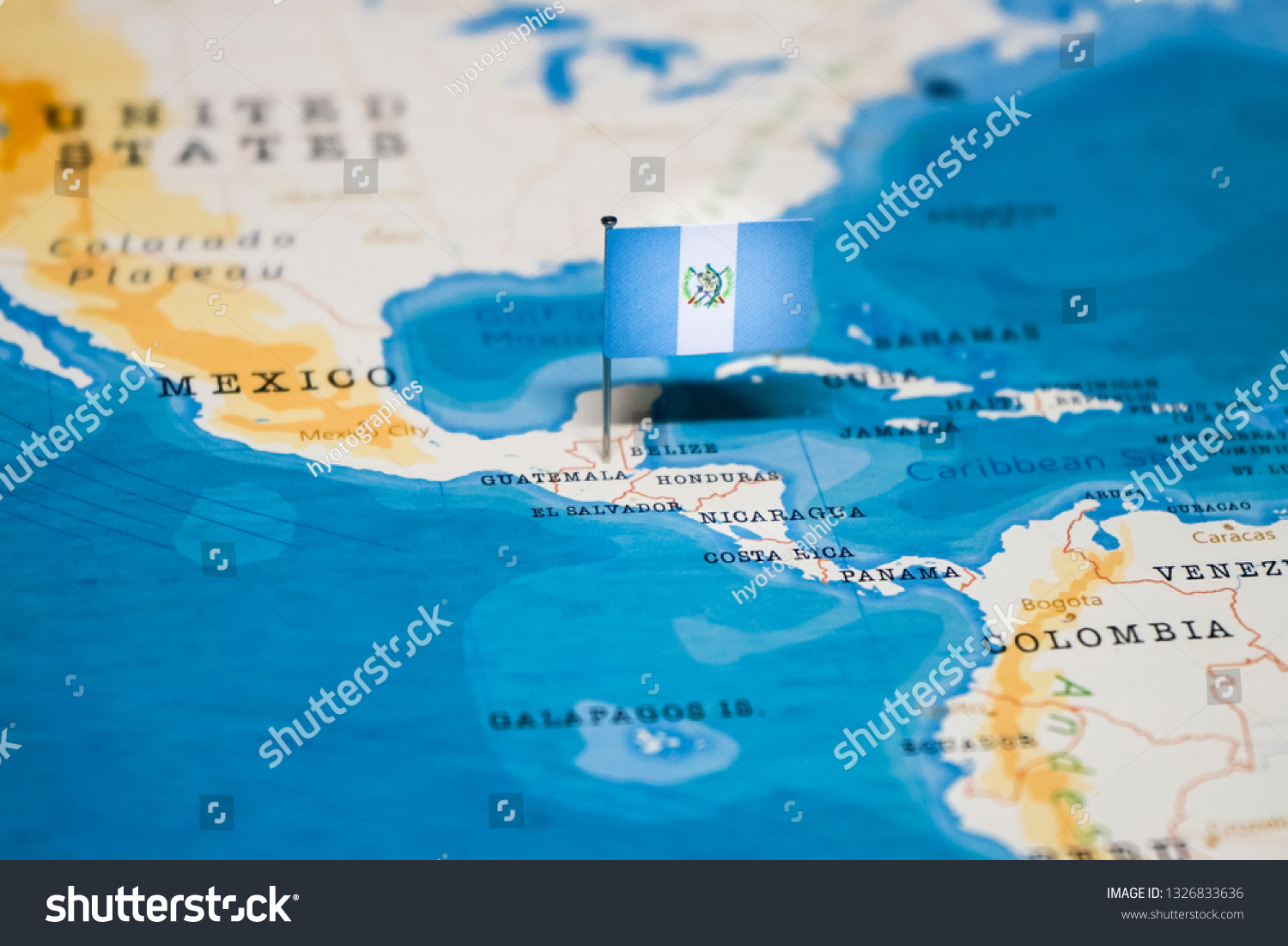 Picture of: Flag Guatemala World Map Stock Photo Edit Now 1326833636