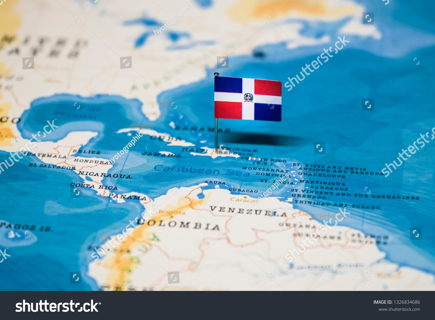 Picture of: Flag Dominican Republic World Map Stock Photo Edit Now 1326834686