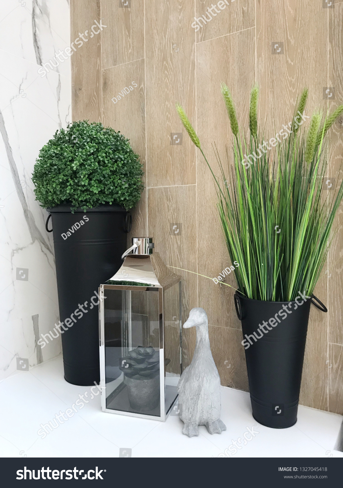 Plants Decoration Corner Living Room Modern Buildings Landmarks Stock Image 1327045418