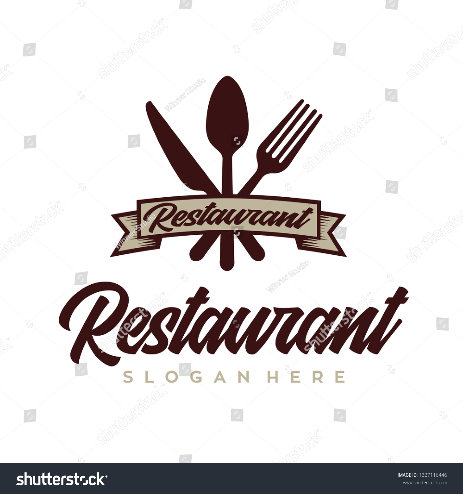 Vector De Stock Libre De Regalias Sobre Chef Restaurant Logo Design Inspiration Vector1327116446