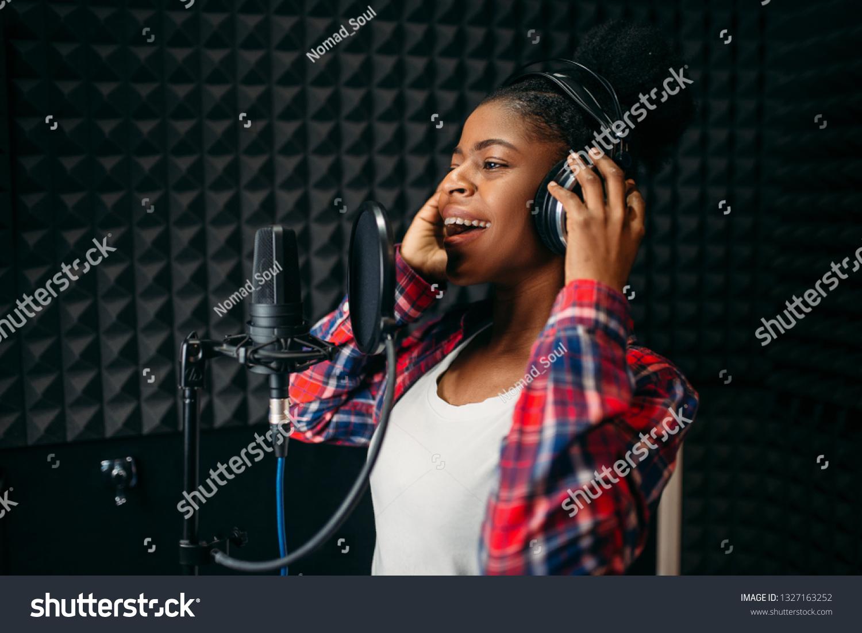 Female Singer Songs Audio Recording Studio Stock Photo (Edit Now