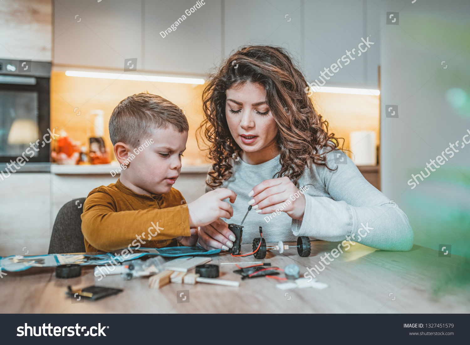 Mommy Helping Son