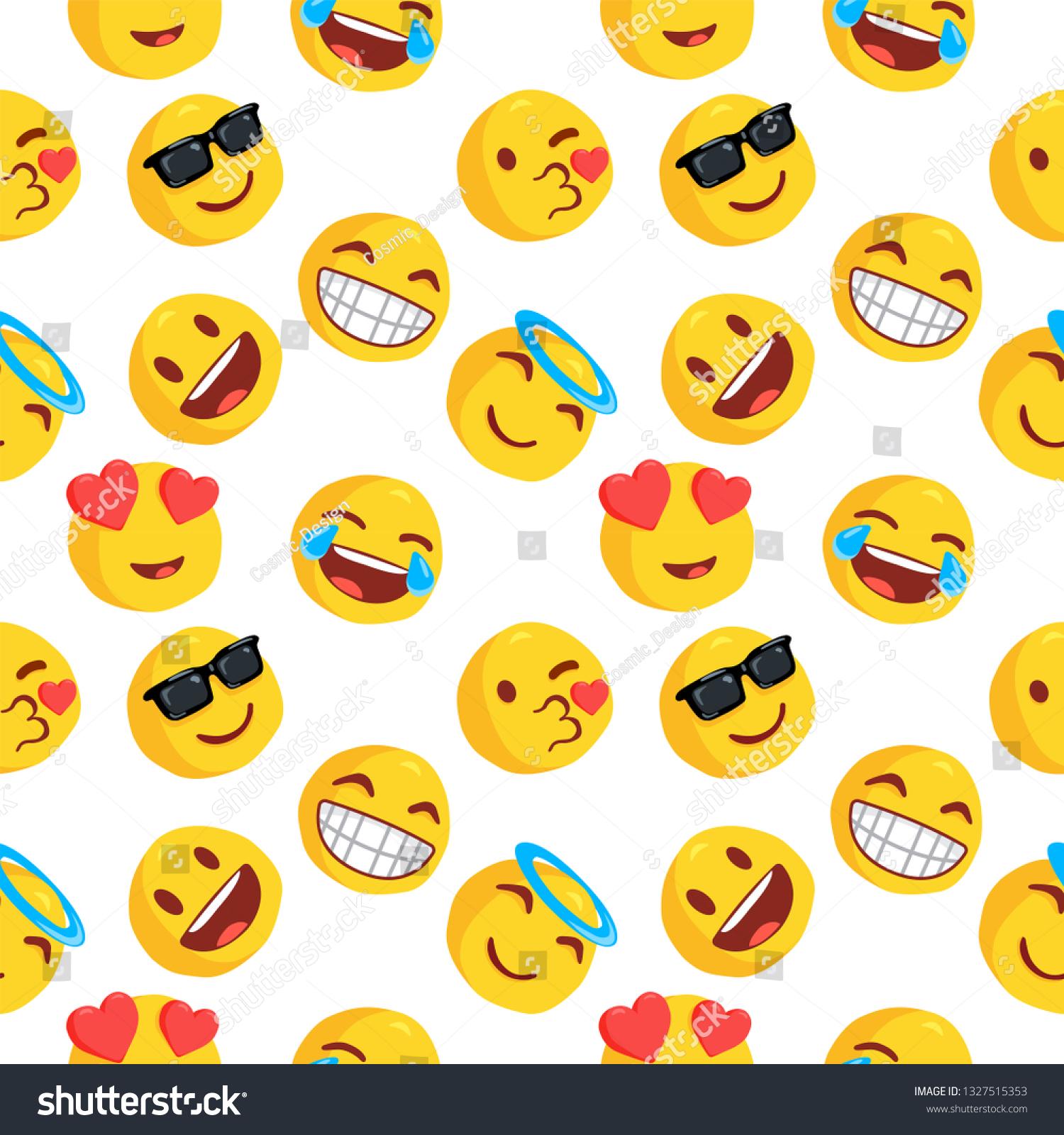 Image Vectorielle De Stock De Emoticon Emoji Pattern Emoji Vector