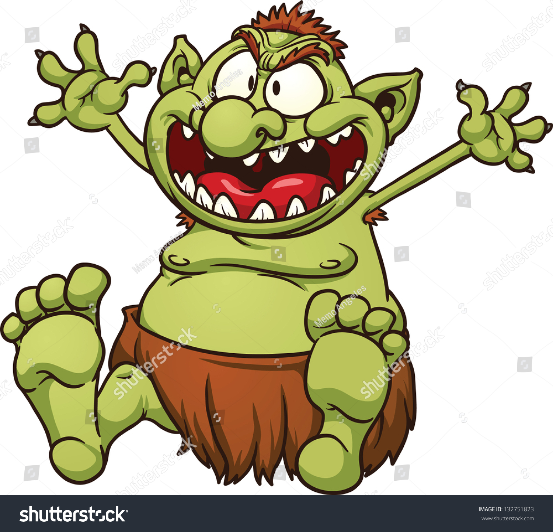 fat cartoon troll vector clip art stock vector 132751823 shutterstock rh shutterstock com troll clipart image trolls clipart branch