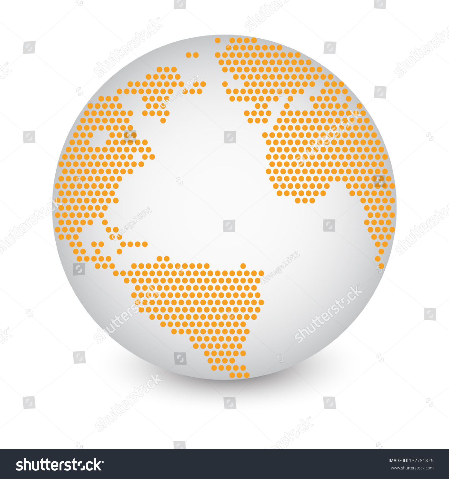 Dotted world map globe made circle stock vector 132781826 shutterstock dotted world map globe made of circle shapes vector illustration eps 10 publicscrutiny Gallery